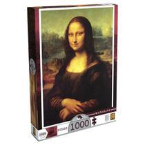 Quebra-Cabeça Leonardo Da Vinci - Monalisa - 1000 peças - Grow -