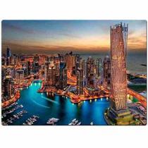 Quebra Cabeça Marina de Dubai 1000 Peças Game Office -