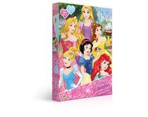 Quebra-cabeça metalizado Princesas da Disney - 100 peças - Jak
