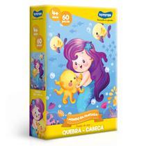 Quebra-Cabeça - Mundo Da Fantasia - 60 Peças - Sereia - Toyster -