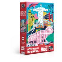 Quebra-Cabeça Nano - 500 Peças - Postais do Brasil - Monumentos - Game Office - Toyster -