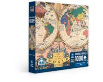 Quebra Cabeça O Novo Mapa Do Mundo 1000 Peças 2763 - toyster -