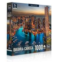 Quebra-cabeça P1000 peças Paisagens Noturnas Marina De Dubai - Toyster
