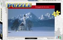 Quebra-Cabeça - Paisagem de Inverno - 260 Peças - Nig Brinquedos -