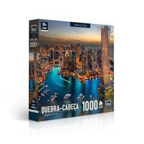 Quebra-Cabeça Paisagens Noturnas: Marina De Dubai 1000 Peças Toyster -