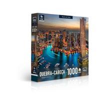 Quebra Cabeça  Paisagens Noturnas - Marina De Dubai - 1000 Peças - Toyster -