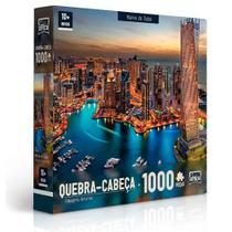 Quebra-Cabeça Paisagens Noturnas - Marina De Dubai 1000 peças - Toyster