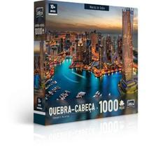 Quebra Cabeça Paisagens Noturnas Marina de Dubai 1000 Peças - Toyster