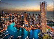 Quebra-Cabeça Paisagens Noturnas Marina de Dubai 1000 peças Toyster -