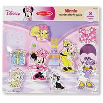 Quebra-Cabeça - Peças de Encaixe de Madeira - Disney - Minnie Mouse - New Toys -