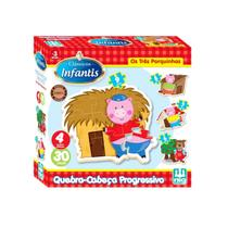 Quebra Cabeça Progresso Os Três Porquinhos - Nig Brinquedos -