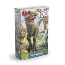 Quebra-Cabeça Puzzle 100 Peças - Dinossauros - Grow -