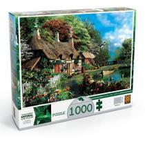 Quebra Cabeça Puzzle 1000 Peças Casa No Lago 02963 - Grow -