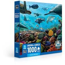 Quebra-Cabeça Puzzle 1000 Peças Criaturas Marinhas - Toyster -