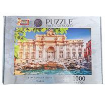 Quebra Cabeça Puzzle 1000 peças Fontana di Trevi Itália Uriarte - Fabricante Padrão