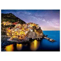 Quebra Cabeça Puzzle 1000 peças Noite em Cinque Terre Grow -