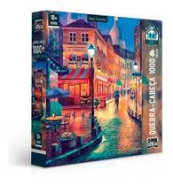 Quebra Cabeça Puzzle 1000 Peças Vielas Francesas Noite - Toyster