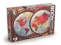 Quebra Cabeça Puzzle 4000 Peças Mapa Mundi - Grow -