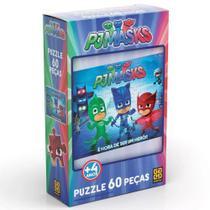 Quebra cabeça puzzle 60 pçs pjmasks - grow -