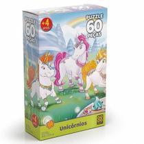 Quebra Cabeça Puzzle 60 Peças Unicornios 03564 Grow -
