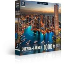 Quebra-Cabeça Puzzle Game Office 1000 Peças Paisagens Noturnas: Marina De Dubai - Toyster