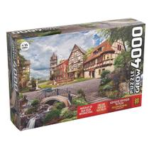 Quebra-cabeça Puzzle P4000 peças Vila Europeia - Grow -