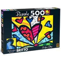 Quebra-Cabeça - Romero Britto - A New Day - 500 Peças - Grow -