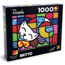 Quebra-Cabeça Romero Britto - Cat - 1000 Peças - Grow -