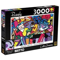 Quebra-Cabeça - Romero Britto Latin Grammy - 3000 Peças - Grow -
