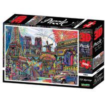 Quebra Cabeça Super 3D Modelo Paris com 500 Peças Multikids - BR1056 -