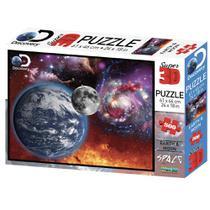 Quebra Cabeça Super 3D Modelo Universo com 500 Peças Multikids - BR1062 -