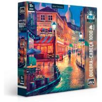Quebra-cabeça Vielas Francesas -Bares Noturnos- 1000 peças - Game Office