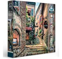 Quebra-cabeça Vielas Francesas Escadaria 1000 Peças Game Office -