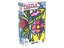 Quebra-cabeças 500 Peças Paisagem - Puzzles Adultos Flower Romero Britto Grow