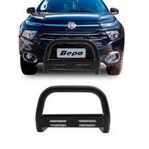 Quebra Mato Fiat Toro 2016 Em Diante Preto Com Grade Diesel - Bepo