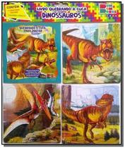 Quebrando a cuca - dinossauros 02 (contém 1 livro p/colorir 3 quebra-cabeças) - Cedic -