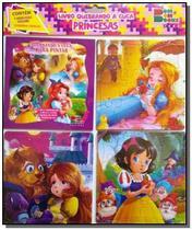 Quebrando a cuca - princesas 01 (contém 1 livro p/colorir 3 quebra-cabeças) - Cedic -