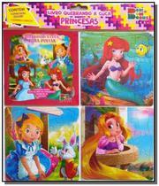 Quebrando a cuca - princesas 02 (contém 1 livro p/colorir 3 quebra-cabeças) - Cedic -