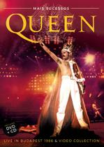 QUEEN DVD+CD - DVD COM SHOW LIVE IN BUDAPEST 1986 + VIDEO COLLETION e CD LIVE IN BUDAPEST 1986 - Sm
