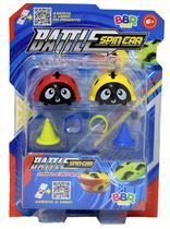 R2769 Spin Battle Carro Pião de Batalha com Duas Peças - Bbr Toys