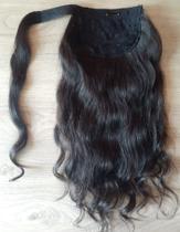 Rabo de cavalo cabelo humano liso ondulado 50cm/100g - Universo Capilar