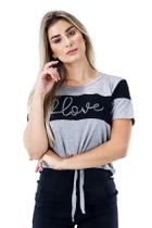 Racana - Blusa Feminina Adulto Lovely Mescla - RAC-1356-MC -