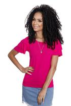 Racana - Camiseta Adulto Feminina Lisa Pink - RAC590-PK -