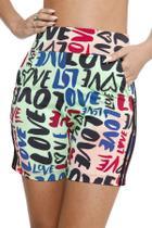 Racana - Shorts Ciclista Adulto Feminina Love Verde - RAC5401-VD -