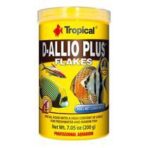 Ração à base de Alho Tropical D-Allio Plus Flakes 20g -
