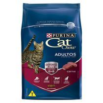 Ração Cat Chow Adultos Carne - 3 Kg - Nestlé Purina