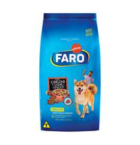 Ração Faro Cães Adultos Raça Média Sabor Carne e Cereais 1kg - 1kg -