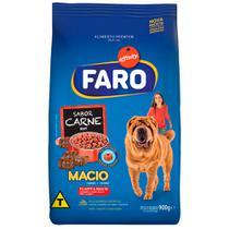 Ração Faro Macio Cães Adultos/Filhotes Carne 900g -