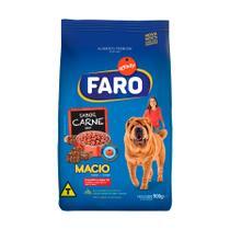 Ração Faro para Cães Adultos Super Macio Sabor Carne - 900g -