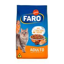 Ração Faro para Gatos Adultos Mix de Carne - 1kg -